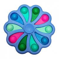 "Игра-Антистресс Симпл димпл ""Цветок-Спиннер"" SM-DM-Fs(Light-Blue) Голубой"