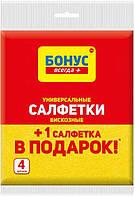 Cалфетки Бонус целлюлозные 4 шт (4820048483940)