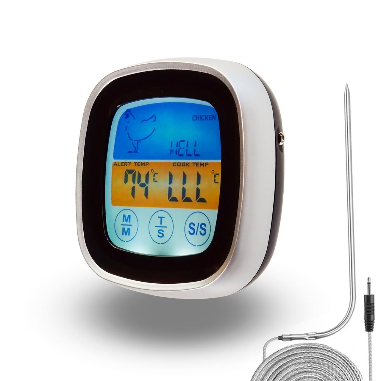Термометр электронный с выносным датчиком, электронный градусник для мяса с выносным щупом и таймером (ST)