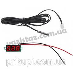 Цифровой датчик температуры -50℃ ~ 125℃ - универсальный автомобильный термометр DC 4,0V- 28V врезной без