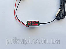 Цифровий датчик температури -50℃ ~ 125℃ - універсальний автомобільний термометр DC 4,0 V - 28V без врізний, фото 3