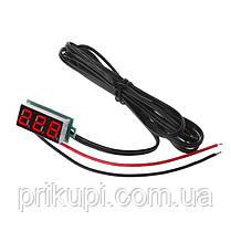 Цифровой датчик температуры -50℃ ~ 125℃ - универсальный автомобильный термометр DC 4,0V- 28V врезной без, фото 2