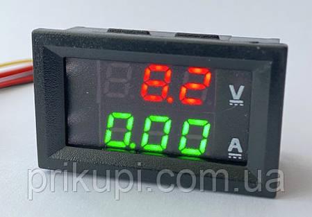 Встраиваемый цифровой Вольтметр - Амперметр 100В, 10А, фото 2