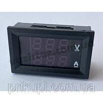 Встраиваемый цифровой Вольтметр - Амперметр 100В, 10А, фото 3