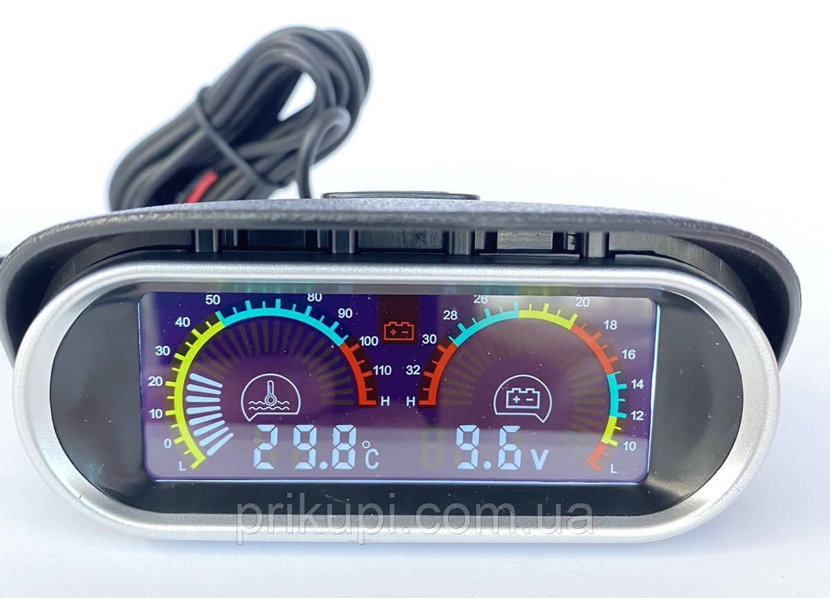 Цифровий датчик температури двигуна ОЖ + вольтметр 12В - 24 вольта (Діаметр - 10 мм)