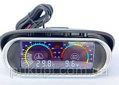 Цифровой датчик температуры двигателя ОЖ + вольтметр 12В - 24 вольта (Ø - 10 мм)