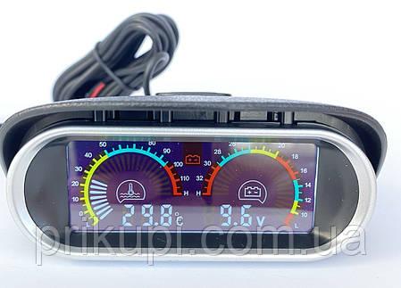Цифровой датчик температуры двигателя ОЖ + вольтметр 12В - 24 вольта (Ø - 10 мм), фото 2