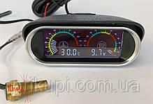 Цифровий датчик температури двигуна ОЖ + вольтметр 12В - 24 вольта (Діаметр - 10 мм), фото 3