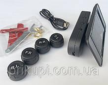 Система контроля давления и температуры в шинах TPMS с 4 внешними датчиками, солнечная панель, фото 2