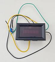 Электронный указатель (индикатор) уровня топлива универсальный (врезной) СИНИЙ, фото 2