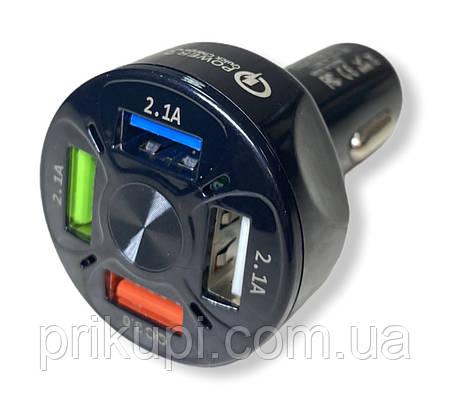 Зарядное устройство от прикуривателя 12-24 вольта на 4 USB QC 3.0 Quick Charge, фото 2
