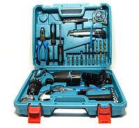 Аккумуляторный Шуруповерт Makita DF330DWE (12V, 2AH) с набором инструментов в кейсе (24 ед.) Дрель Макита