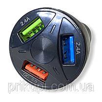 Зарядное устройство в прикуриаатель на 3 USB 12-24 вольта QC 3.0 Quick Charge быстрая зарядка, фото 2