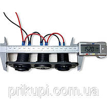Врізні в панель прикурювач + вольтметр + 2 USB по 2.1 А автопанель 12В-24В, фото 2