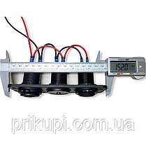 Врезное зарядное USB х2 по 2.1А в панель + вольтметр 12В-24 вольта, фото 3