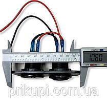 Врезное зарядное USB х2 по 2.1А в панель + вольтметр 12В-24 вольта, фото 2
