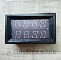 Цифровой универсальный термометр с двумя выносными датчиками температуры -20°C ~ 110°C  6 - 28 вольта Врезной, фото 3