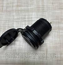 Автомобильное зарядное устройство на 2 USB по 2.1А 12В-24В врезное в планку (встроенная USB зарядка в авто), фото 3