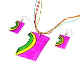 Підвіска - Кулон листочок темний, фото 3