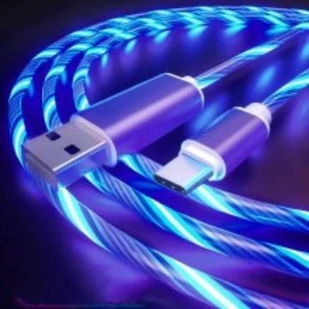 Магнитный светящийся кабель Type-С 1м., фото 2