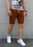 Мужские шорты коричневого цвета коттон, фото 1