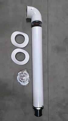 Димохід коаксіальний Coaxial Flue kit 60/100 750 мм, з коліном 71.M17.00.01 (Alpha)
