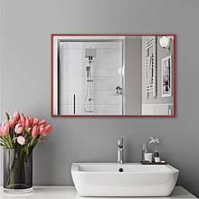 Зеркало для ванной комнаты в красном цвете