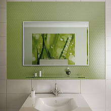 Дзеркало для ванної в алюмінієвій рамі