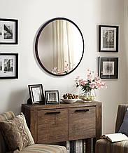 Зеркало круглое 600 мм венге