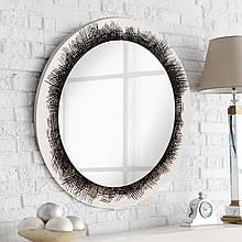 Круглое зеркало на основе ДСП 800 мм