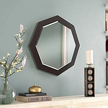 Зеркало восьмиугольное с фацетом ( круглое ) 600 мм