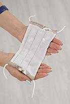 Красивая тканевая маска из натуральной ткани штапель батист для лица на резинке, фото 3