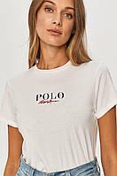 Футболка женская Polo Ralph Lauren, белая поло ральф лорен