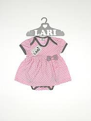 """Боді плаття """"Горошинка"""" (рожевий, інтерлок, (62))"""
