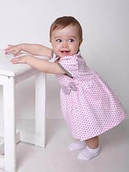 """Боді плаття """"Горошинка"""" (рожевий, інтерлок, (74))"""