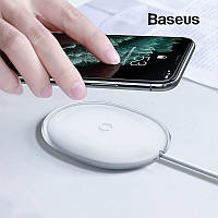 Компактная беспроводная зарядка Baseus Jelly 15W 2A QC3.0 (белая)