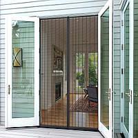 Антимоскитная сетка-штора на дверь 120х220 см. на вшитых магнитах