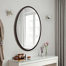 Зеркало в форме овала 700х500 мм венге магия