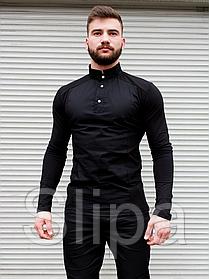Мужская стильная рубашка чёрная