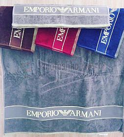 Полотенце велюровое пляжное Emporio Armani