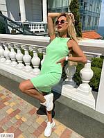 Облягаюче короткий жіноче плаття-майка на літо з трикотажу гумка арт. 283
