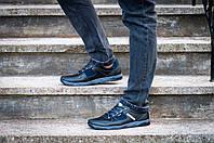 Мужские черные кроссовки демисезонные прошитые