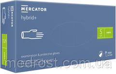 Перчатки виниловые неопудренные  MERCATOR® hybrid+ размер М