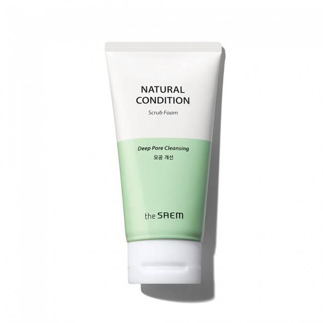 Мило-скраб з екстрактом портулаку для проблемної шкіри The Saem Natural Condition Scrub Foam 150ml