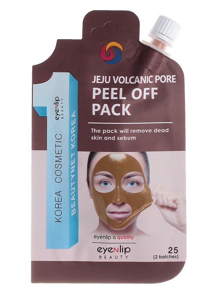 Маска-плівка з вулканічної глиною для особи Eyenlip Jeju Volcanic Pore Peel Off Pack 25g