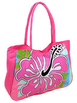 Сумка Женская Пляжная текстиль /1331 pink розовая