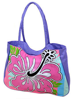 Сумка Женская Пляжная текстиль /1331 purple фиолетовая