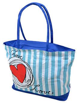 Сумка Женская Пляжная текстиль /1350 blue синий