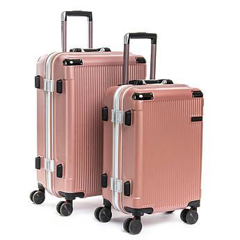 Дорожная Чемодан 2/1 ABS-пластик 04 pink розовая замок