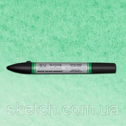 Маркер акварельный Winsor Watercolor Markers   № 521 Phthalo Blye Yellow Shade